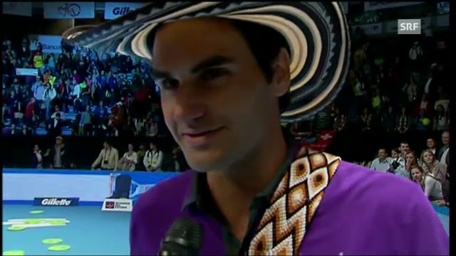 Roger Federer im Platzinterview