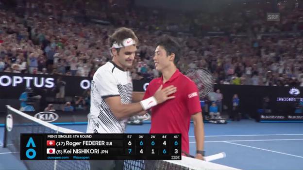 Video «Livehighlights Federer - Nishikori» abspielen