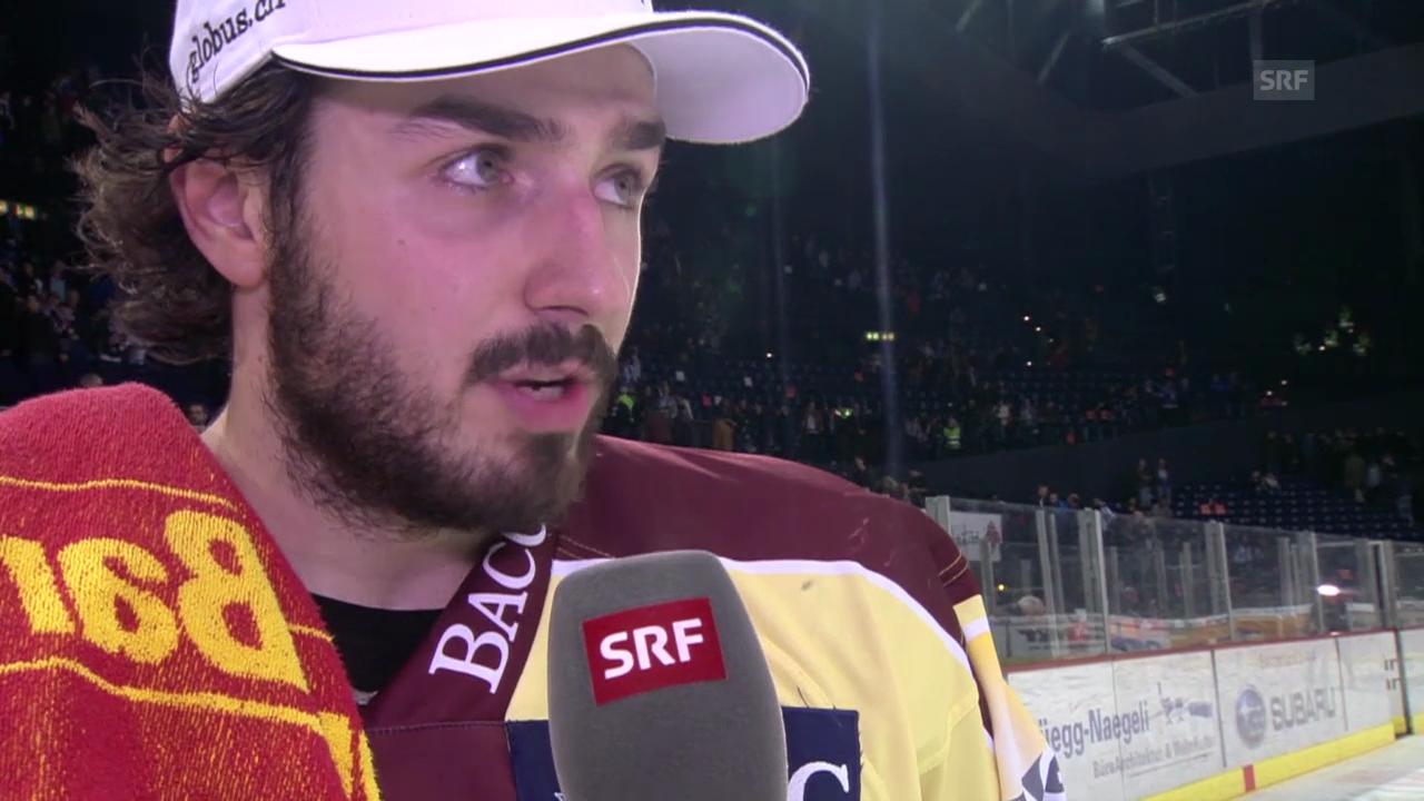 Eishockey: Playoff-Halbfinal ZSC - Genf: Interview mit Denis Hollenstein