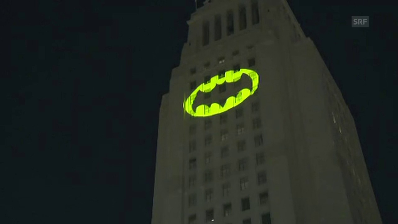 «Batman»-Symbol statt in Gotham City in L.A.