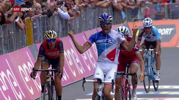 Video «Giro: Hochspannung vor dem Showdown im Zeitfahren» abspielen