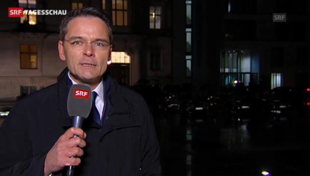 Video «SRF-Korrespondent Stefan Reinhart zu den Sondierungsgesprächen» abspielen