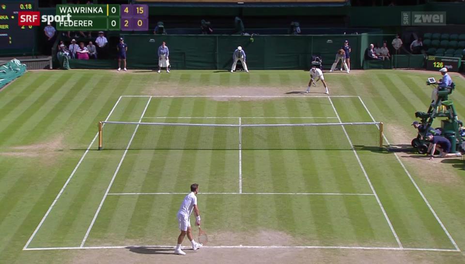 Tennis: Wimbledon, Viertelfinal Federer - Wawrinka