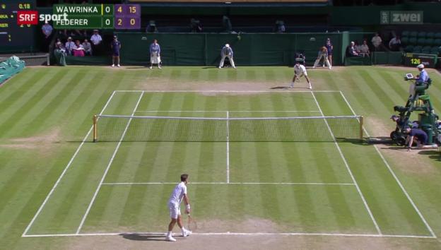 Video «Tennis: Wimbledon, Viertelfinal Federer - Wawrinka» abspielen