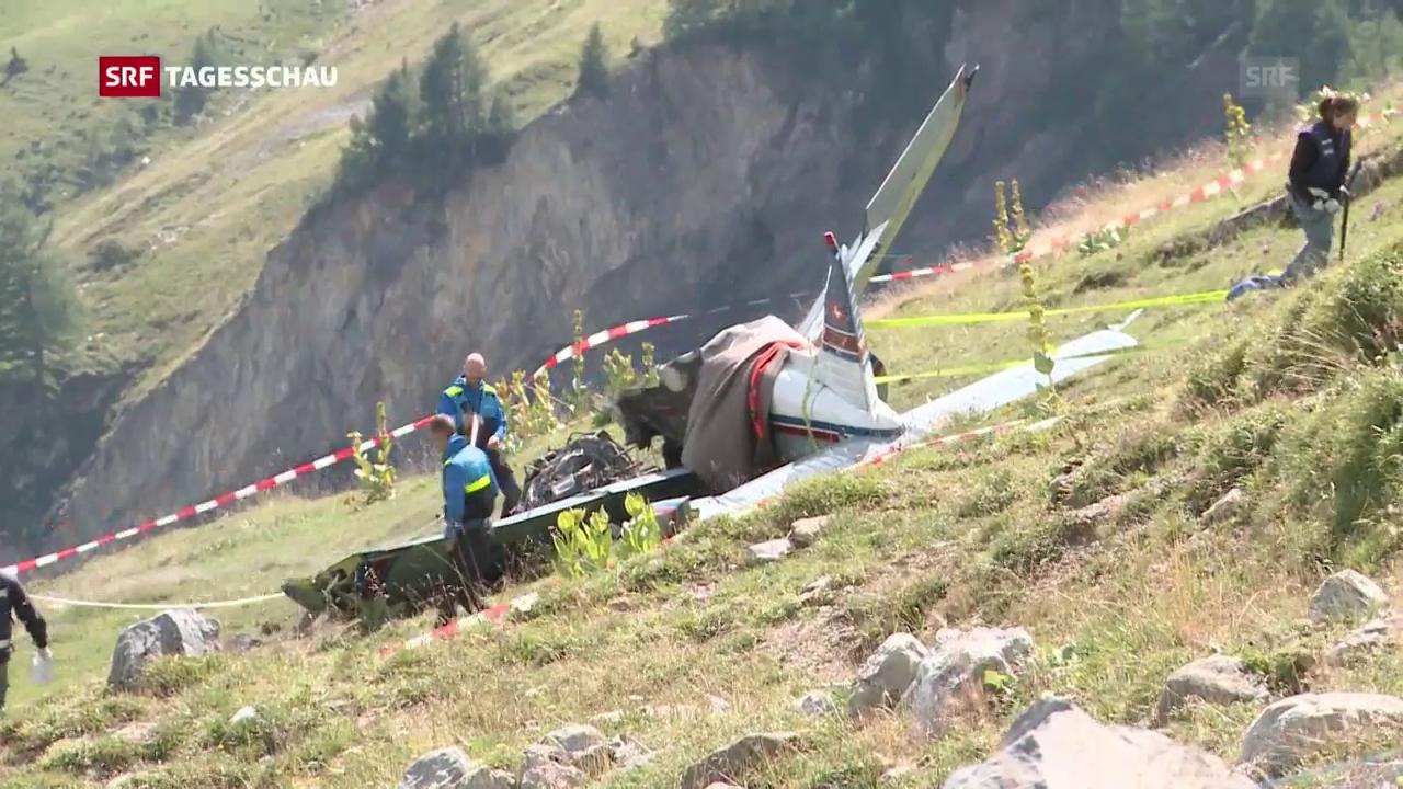 Drei Tote bei Absturz von Kleinflugzeug