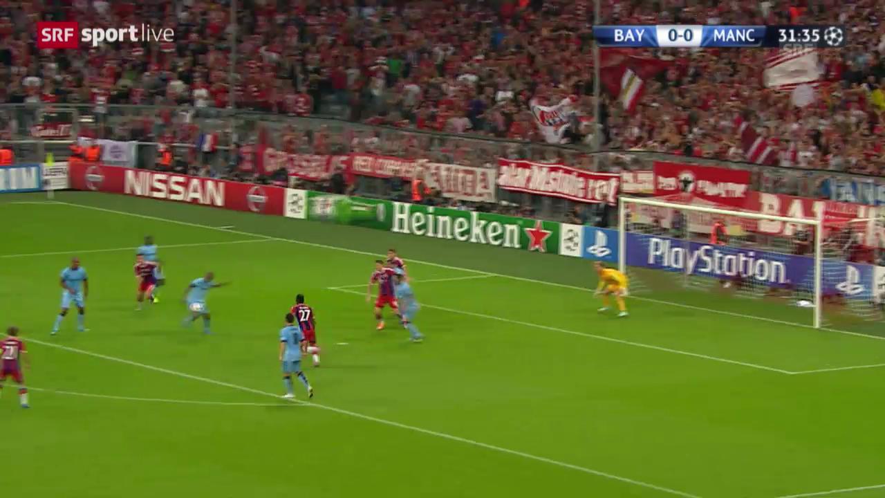 Fussball: Champions League, Joe Harts Paraden im Spiel gegen Bayern München