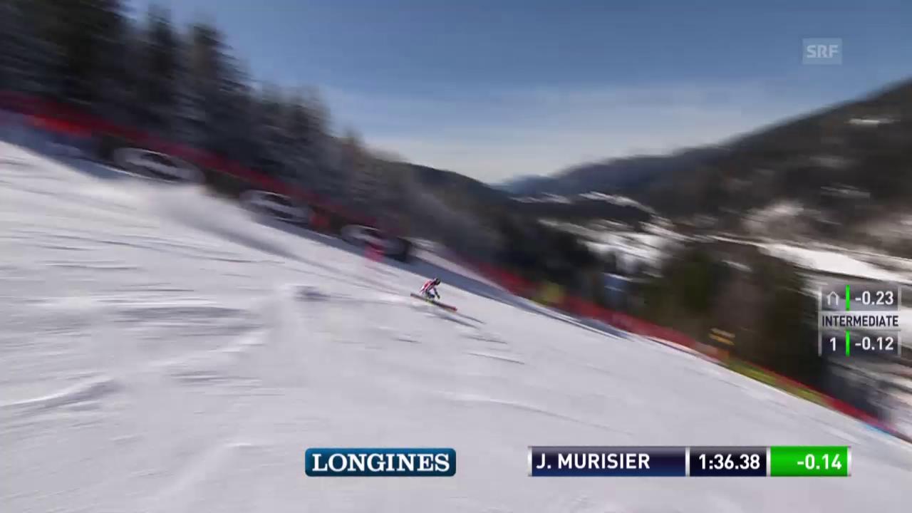 Murisier kann sich im 2. Lauf von Kranjska Gora steigern