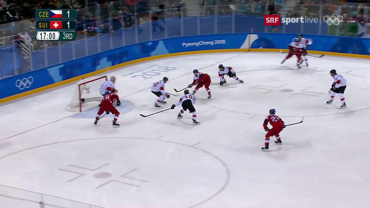 Schön kombiniert: Das 2:1 für Tschechien