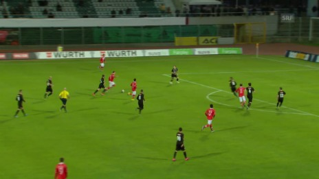 Video «Fussball: Schweizer Cup, Viertelfinal Lugano - Köniz 2:0» abspielen