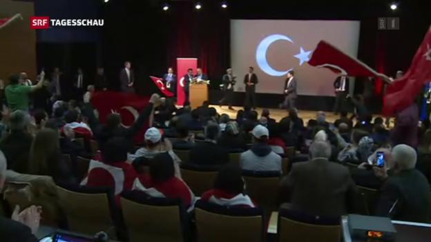 Video «Frankreich gewährt Cavusoglu einen Auftritt» abspielen