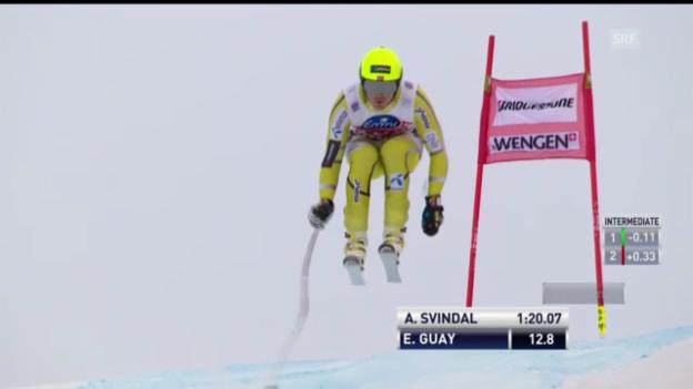 Video «Ski alpin: Kjetil Jansrud im 1. Training zur Lauberhorn-Abfahrt (unkommentiert)» abspielen