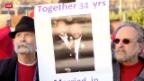 Video «US-Gericht führt Schicksals-Debatte zur Homo-Ehe» abspielen