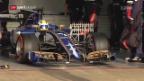 Video «Sauber bei ersten Tests zurück» abspielen