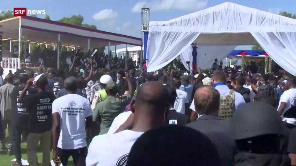 Unruhen am Staatsbegräbnis in Haiti