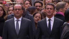 Video «Schweigeminute in Frankreich» abspielen