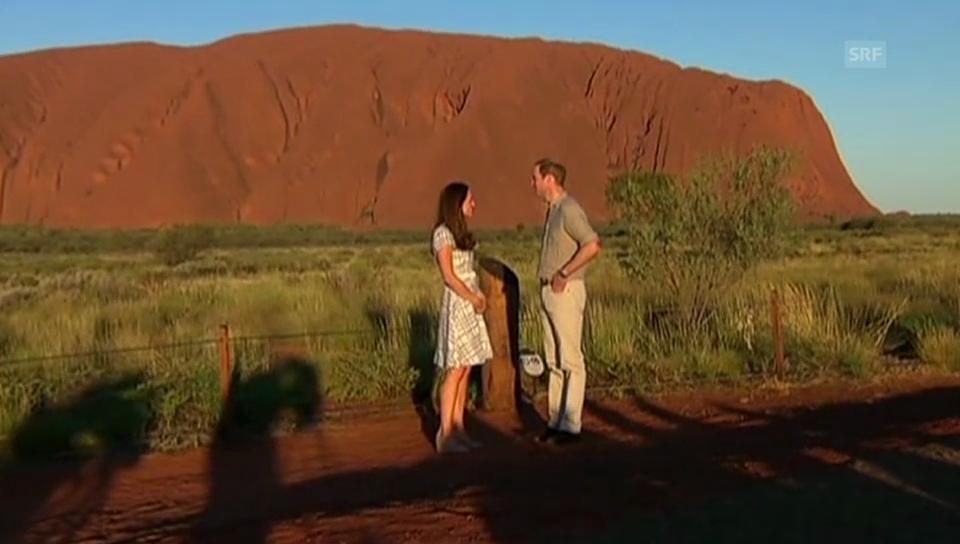 Kate und William am Sandsteinberg Uluru