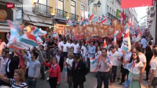 Video «Portugal wählt neues Parlament» abspielen