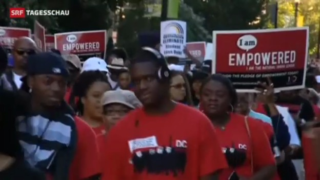Video «Amerikaner erinnern an den «Marsch auf Washington»» abspielen