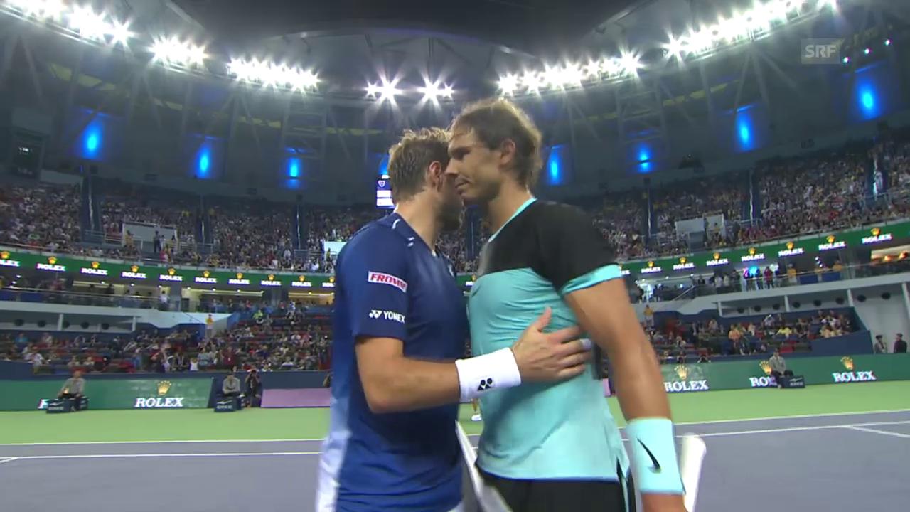 Tennis: ATP-Turnier in Schanghai, Nadal schlägt Wawrinka
