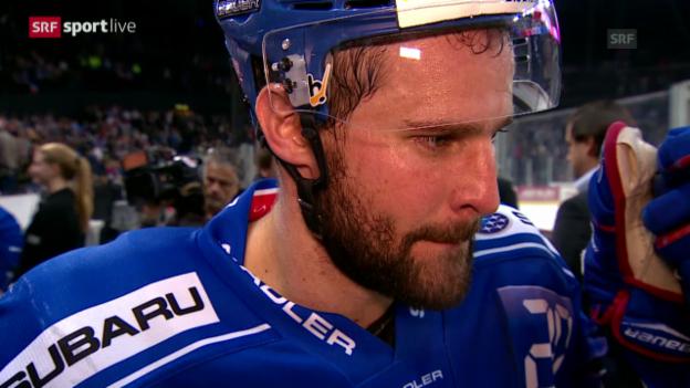 Video «Eishockey: Bärtschi im Interview» abspielen