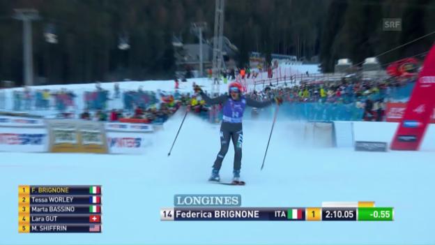 Video «Die Siegesfahrt von Federica Brignone» abspielen