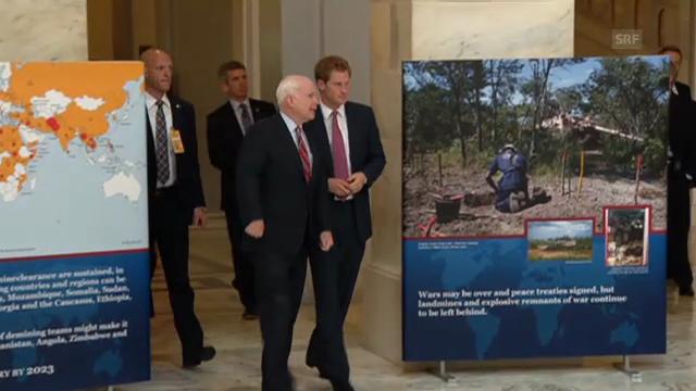 Prinz Harry besucht Anti-Minen-Fotoausstellung