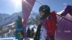 Video «Sotschi: Snowboard Slopestyle Frauen, Qualifikation, 1. Lauf Sina Candrian» abspielen