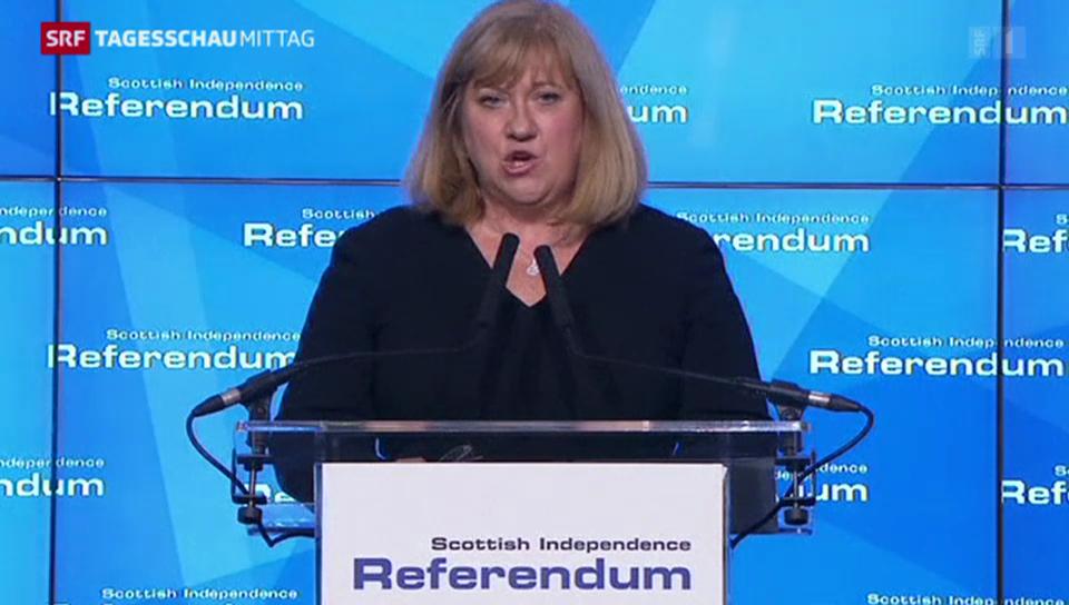 Mary Pithcathly verkündet das Ergebnis