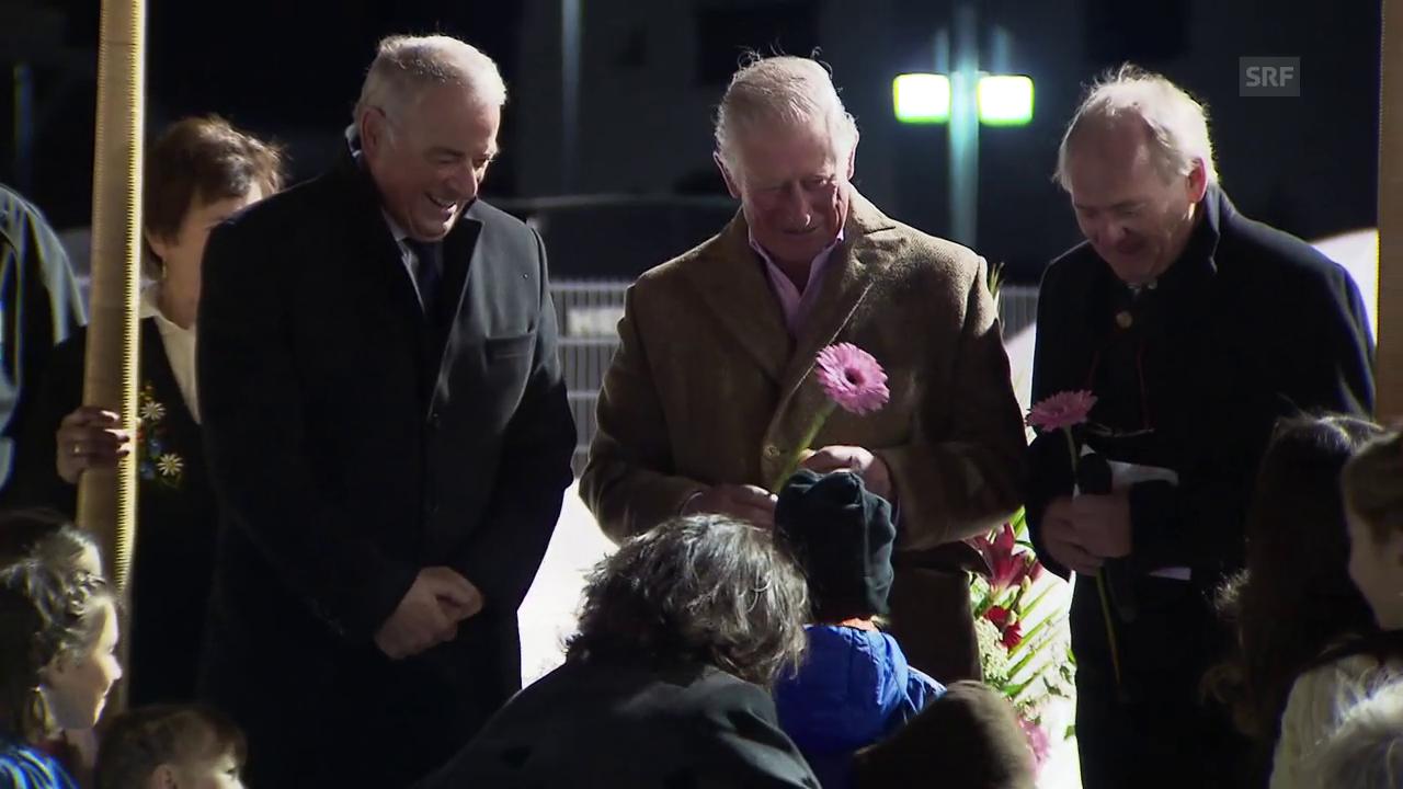 Prinz Charles feiert mit Adolf Ogi in Klosters