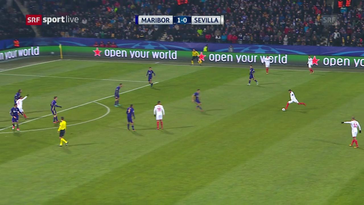 Sevilla mit glanzlosem Remis in Maribor