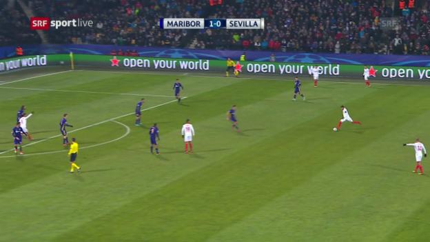 Video «Sevilla mit glanzlosem Remis in Maribor» abspielen