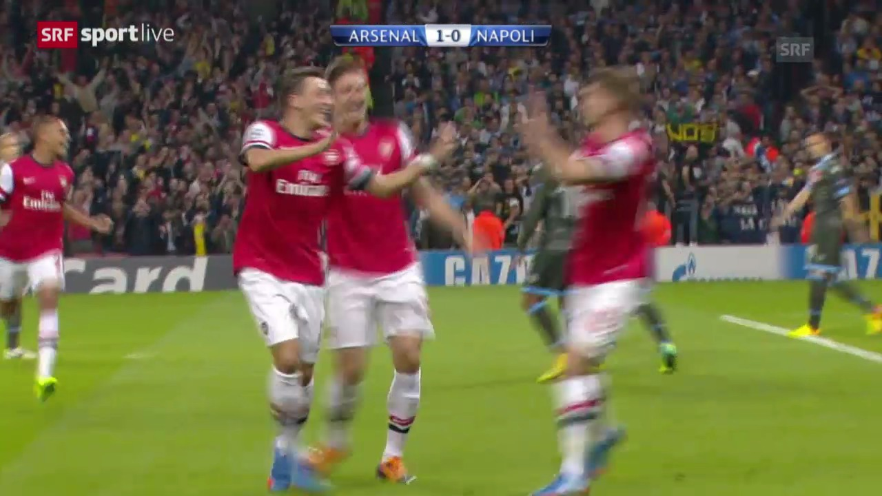 Fussball: Arsenal - Napoli («sportlive»)