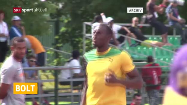 Video «Usain Bolt verletzt sich in Jamaika» abspielen
