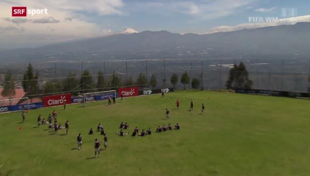 Video «Fussball: Schweizer Gruppengegner Ecuador» abspielen