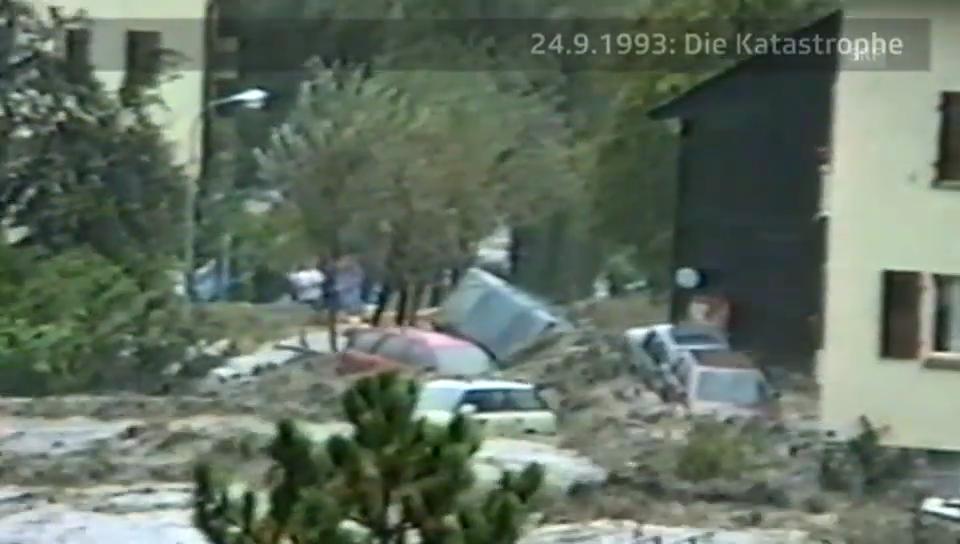 Fernsehbilder vom 24. September 1993 aus Brig