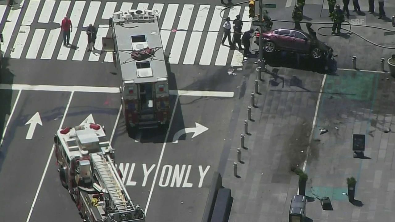 Die Unfallszene am Times Square