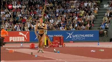 Video «Isinbajewas Weltrekord in Zürich 2009» abspielen