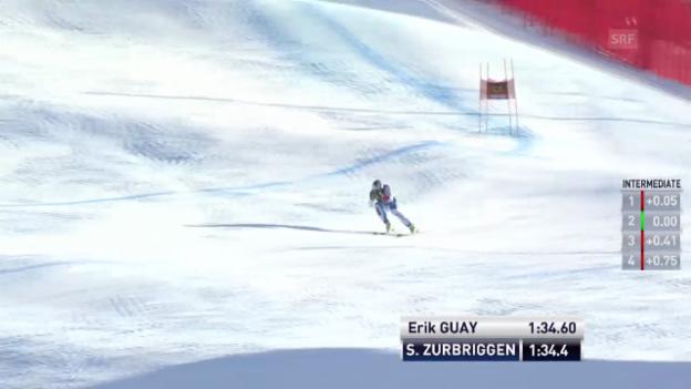 Video «Ski Alpin: Abfahrt Männer in Gröden, Fahrt von Zurbriggen («sportlive», 21.12.2013)» abspielen