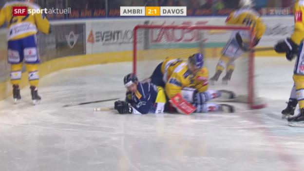 Video «Ambri lässt gegen Davos wichtige Punkte im Playoff-Kampf liegen» abspielen