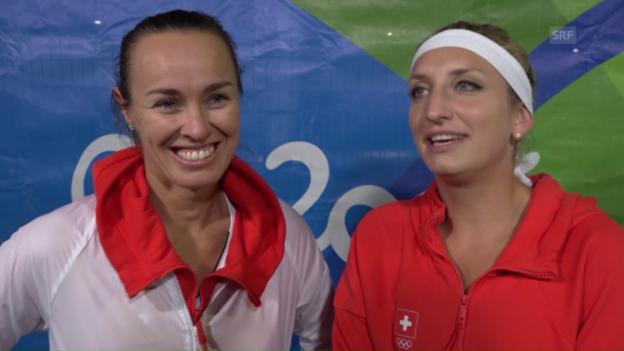 Video «Hingis: «Es war wichtig, dass wir daran geglaubt haben»» abspielen