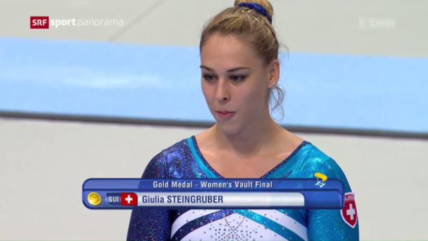 Video «Steingruber holt zwei Goldmedaillen» abspielen