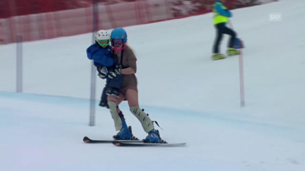 Video «Ski alpin: Sarah Schlepers schrille Abschiedsfahrt in Lienz 2011» abspielen