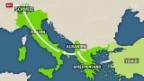 Video «Führen neue Flüchtlings-Routen auch in die Schweiz?» abspielen