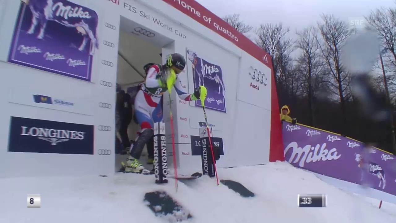 Ski: Slalom Maribor, Der 2. Lauf von Wendy Holdener