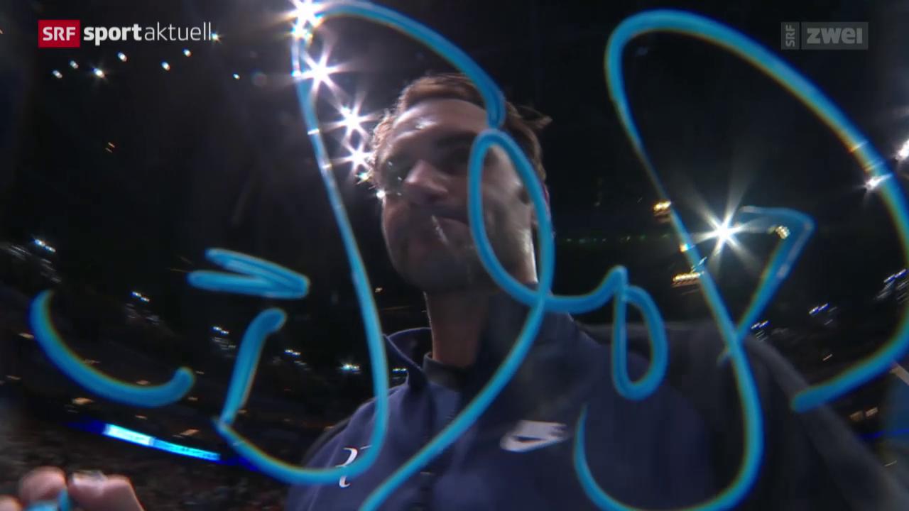 Tennis: ATP Finals; Djokovic-Federer