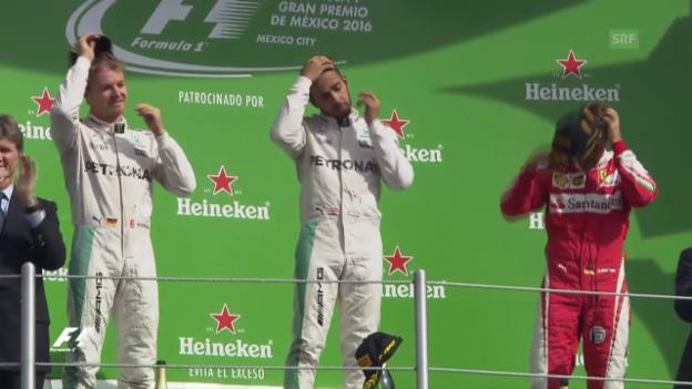 Video «Hamilton hält Rosberg in Schach» abspielen