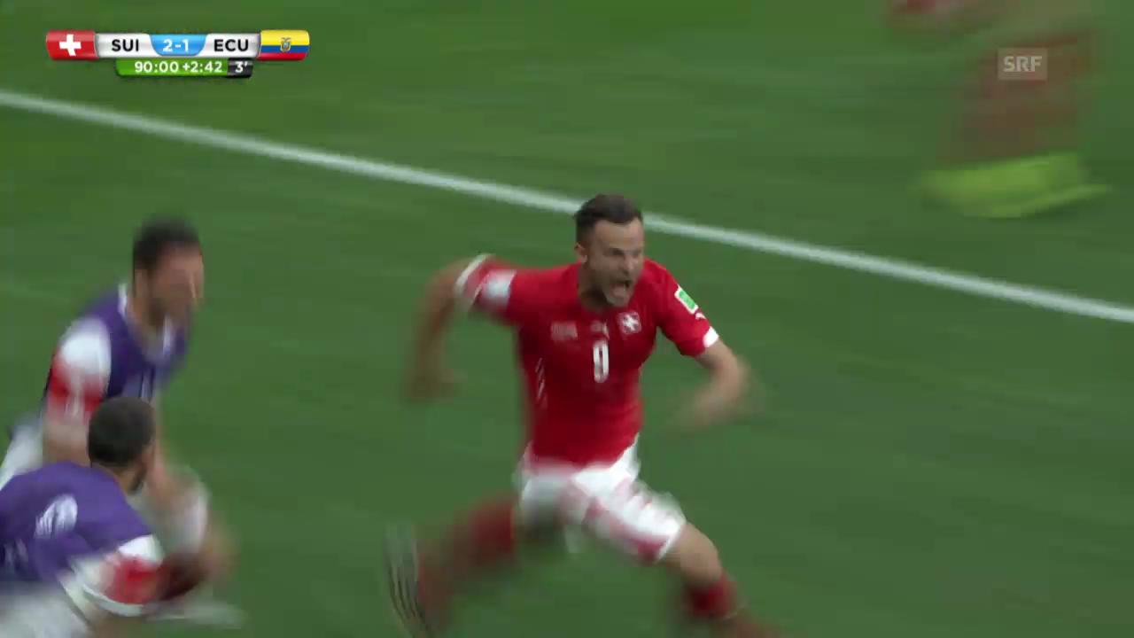 WM 2014: Seferovics Siegestor gegen Ecuador