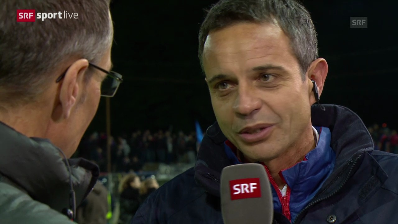 Fussball: Super League, Aarau-Basel, Interview mit Bernhard Heusler