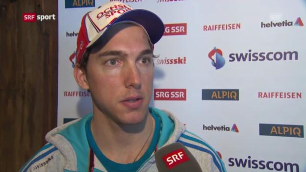 Video «Ski alpin: Carlo Janka vor dem Rennen in Adelboden» abspielen