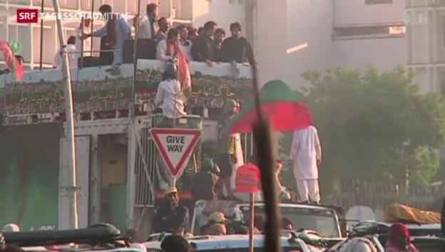 Video «Ausschreitungen in Islamabad» abspielen